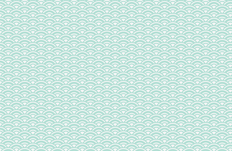 sunrise mint fabric by ninaribena on Spoonflower - custom fabric