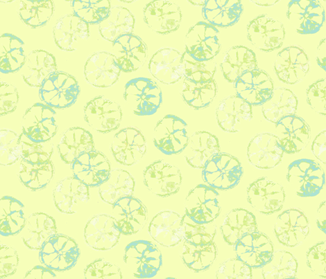citrus_pattern_lime fabric by johanna_design on Spoonflower - custom fabric