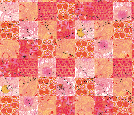 pink_picnic_blanket fabric by johanna_design on Spoonflower - custom fabric