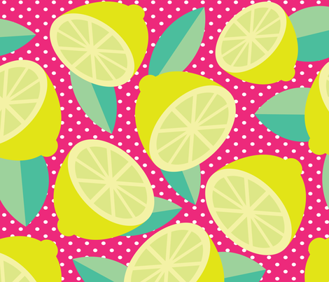 TARTY LEMONS fabric by deeniespoonflower on Spoonflower - custom fabric