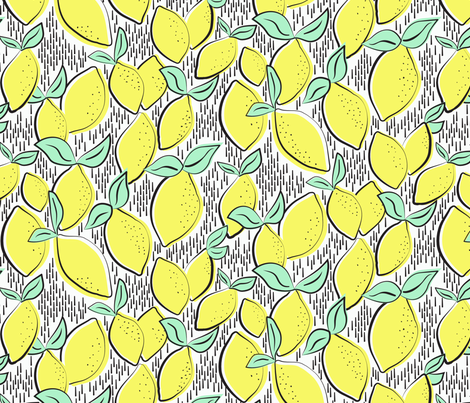 Lemons fabric by demigoutte on Spoonflower - custom fabric