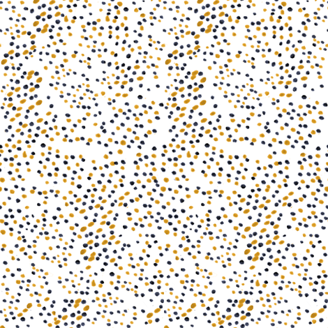 Navy and Gold Spot fabric by pond_ripple on Spoonflower - custom fabric