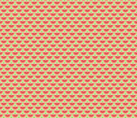 A Watermelon Picnic fabric by holladay on Spoonflower - custom fabric