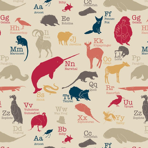 Obscure Animals Alphabet (Large)