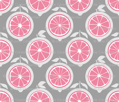 Julie's Pink Lemon Grid M