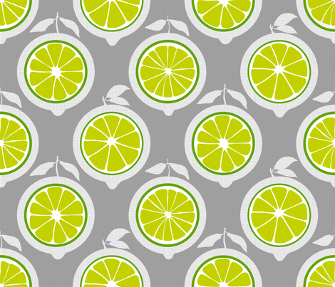 Julie's Green Lime Grid M fabric by juliesfabrics on Spoonflower - custom fabric