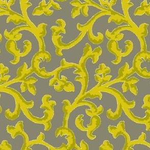Smoke & Mustard Scroll