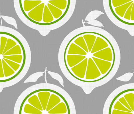 Julie's Green Lime Grid XL fabric by juliesfabrics on Spoonflower - custom fabric