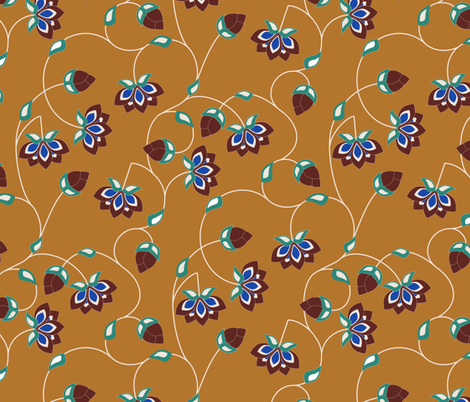 Persian Lotus Vine fabric by audsbodkin on Spoonflower - custom fabric