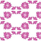 Fuschia Mums Kimono Pattern