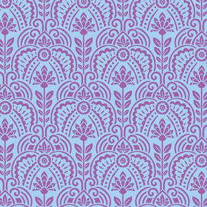 Las Vegas Art Deco Floral, periwinkle colorway