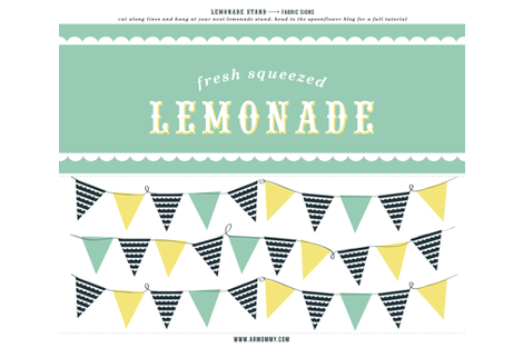 fabric-sign-lemonade-stand fabric by armommy on Spoonflower - custom fabric