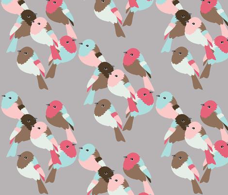 Little Birds fabric by owlandchickadee on Spoonflower - custom fabric