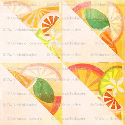 Citrus & Blooms - Triangles