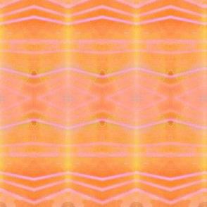orange sherbert stripes with pink