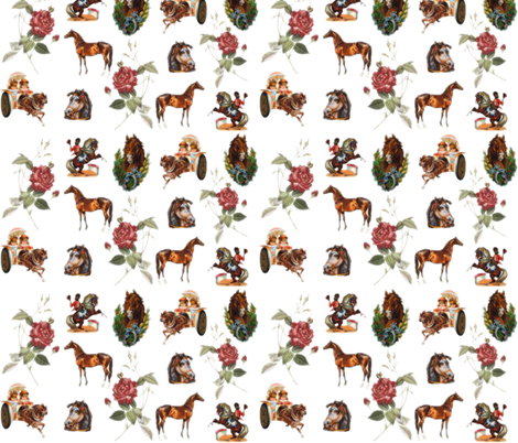 I had this bizarre dream with horses fabric by pirophobia on Spoonflower - custom fabric