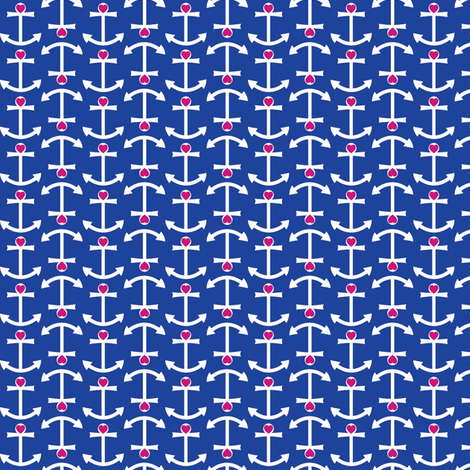 Anchor Love Small - Updated Colors fabric by srbracelin on Spoonflower - custom fabric