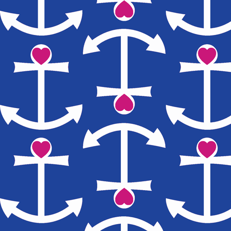 Anchor Love Large - Updated Colors fabric by srbracelin on Spoonflower - custom fabric