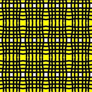 Yellow and black plaid