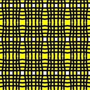 Yellow and black plaid