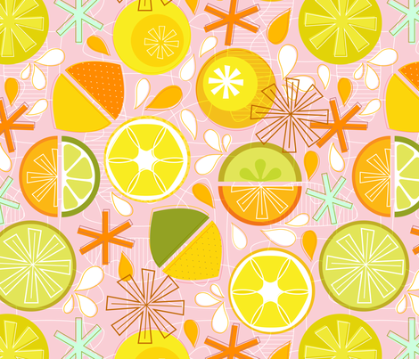 Freshly Squeezed fabric by nadiahassan on Spoonflower - custom fabric