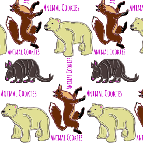 Animal Cookies fabric by ravynscache on Spoonflower - custom fabric