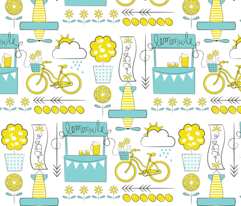 The Lemonade Stand fabric by addilou on Spoonflower - custom fabric