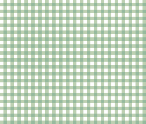 Aqua_Gingham fabric by kelly_a on Spoonflower - custom fabric