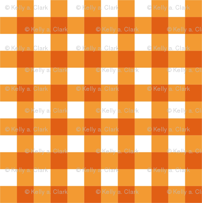 Orange_Gingham