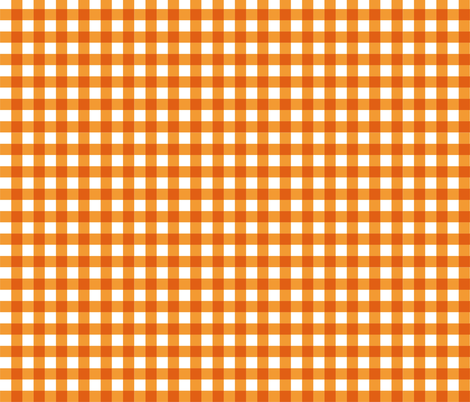 Orange_Gingham fabric by kelly_a on Spoonflower - custom fabric