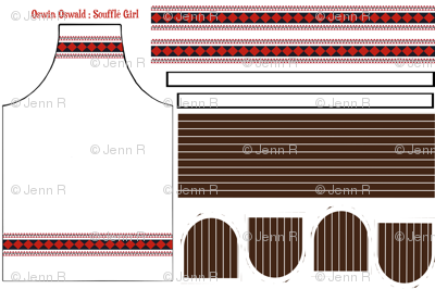 Oswin Oswald: Soufflé Girl UPDATED Apron & Dual hotpad set