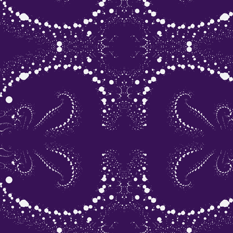 Fractal Wedgewood Blue and White fabric by clotilda_warhammer on Spoonflower - custom fabric