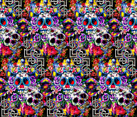 Altar Of The Dead fabric by whimzwhirled on Spoonflower - custom fabric