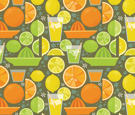 Drink_Your_Juice fabric by robinpickens on Spoonflower - custom fabric