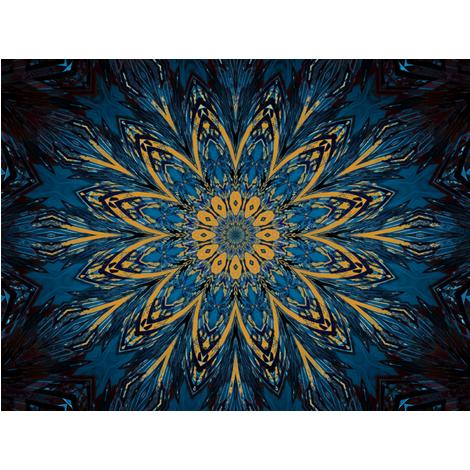 Kaleidescope 0824 k2 retrodark teal blue and yellow