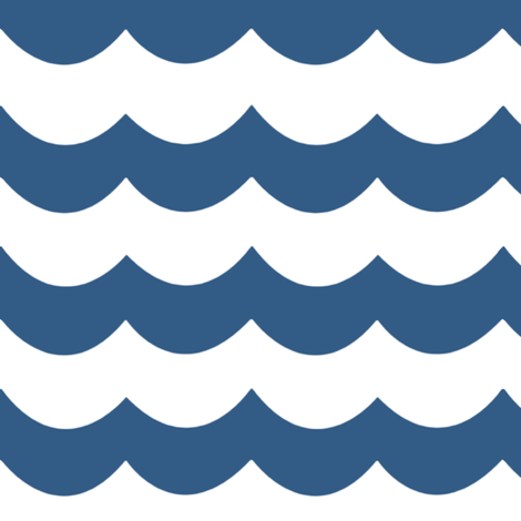 Chevron Waves in Deep Blue fabric by willowlanetextiles on Spoonflower - custom fabric
