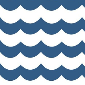 Chevron Waves in Deep Blue