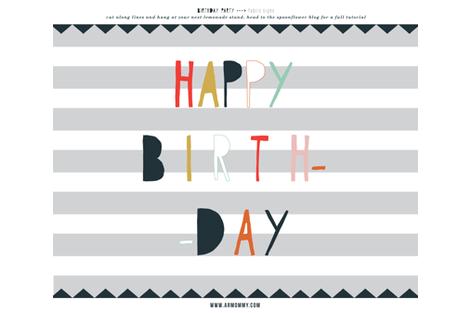 fabric-sign-happy-birthday fabric by armommy on Spoonflower - custom fabric
