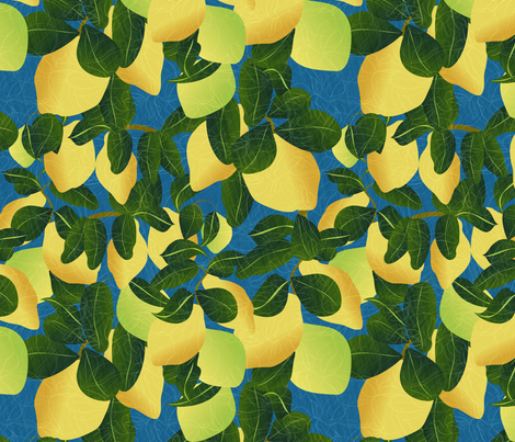 Lemon tree fabric by kociara on Spoonflower - custom fabric