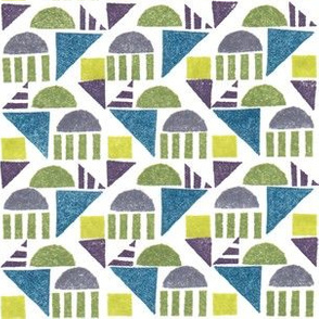Geometric Stamp Pattern