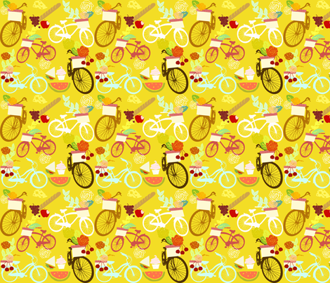 Bike Picnic fabric by graceful on Spoonflower - custom fabric