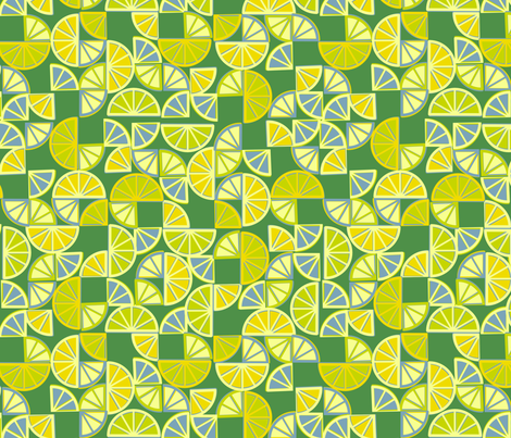 geo citrus - lime colorway fabric by ravynka on Spoonflower - custom fabric
