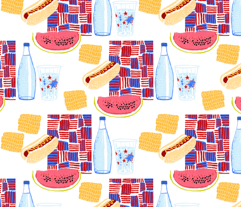 picnic fabric by weejock on Spoonflower - custom fabric