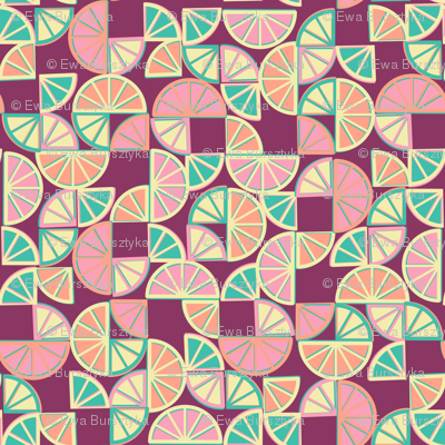 geo citrus - red grapefruit colorway