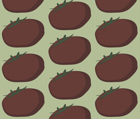 Retro Tomato fabric by garwooddesigns on Spoonflower - custom fabric