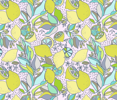 lemony fabric by megmelrose on Spoonflower - custom fabric