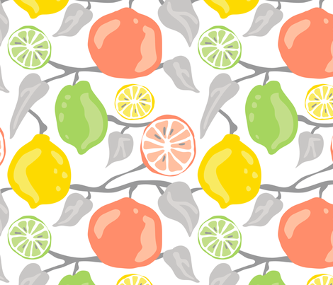 fruity fabric by marymaness on Spoonflower - custom fabric