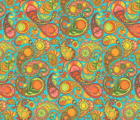 Paisley Salad daylight fabric by ceanirminger on Spoonflower - custom fabric