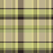 Tan, brown and green tartan plaid
