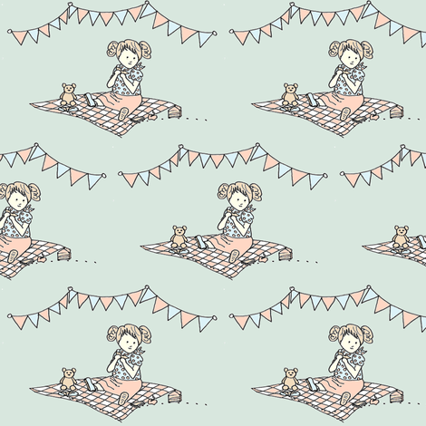 Picnic fabric by poppybasildesigns on Spoonflower - custom fabric